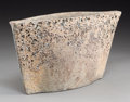 Ceramics & Porcelain, British:Contemporary   (1950 to present)  , A Paul Philp Slab-Built Stoneware Vase with Book, 2006. Marks:PHILP. 7-1/2 h x 14-3/4 w x 3-1/2 d inches (19.1 x 37.5 x...(Total: 2 Items)
