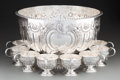Silver Holloware, American:Punch Bowls, A Nine-Piece Israel Freeman & Son Sheffield Plate PunchService, 20th century. Marks: (hand & hammer) IFS LTD,(various)... (Total: 9 Items)