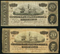 Confederate Notes, T67 $20 1864 PF-1; PF-10 Cr. 504; Cr. 510.. ... (Total: 2 notes)