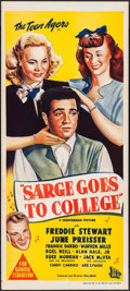 "Movie Posters:Musical, Sarge Goes to College (Monogram, 1947). Australian Daybill (13.25"" X 30""). Musical.. ..."
