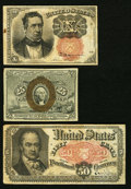 Fractional Currency:Fifth Issue, 10¢, 25¢, and 50¢ Fractionals.. ... (Total: 3 notes)