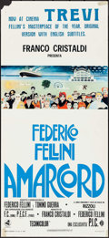 """Movie Posters:Foreign, Amarcord (Dear, 1973). Italian Locandina (12.75"""" X 23.5""""). Foreign.. ..."""