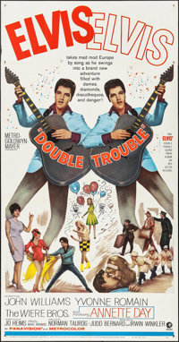 """Double Trouble (MGM, 1967). Three Sheet (41"""" X 79""""). Elvis Presley"""