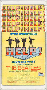 "Help! (United Artists, 1965). Three Sheet (41"" X 78.75""). Rock and Roll"