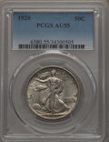 Walking Liberty Half Dollars: , 1920 50C AU55 PCGS. PCGS Population: (79/1136). NGC Census: (35/751). CDN: $215 Whsle. Bid for problem-free NGC/PCGS AU55. ...