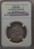 Seated Half Dollars: , 1865 50C -- Improperly Cleaned -- Details NGC. XF. NGC Census: (6/62). PCGS Population: (18/107). CDN: $350 Whsle. Bid for ...