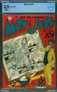 Mutt and Jeff #8 - CBCS CERTIFIED (DC, 1943) CGC VG- 3.5 White pages