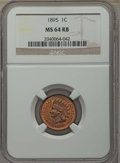 Indian Cents: , 1895 1C MS64 Red and Brown NGC. NGC Census: (196/95). PCGS Population: (298/56). CDN: $135 Whsle. Bid for problem-free NGC/...