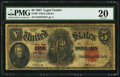 Large Size:Legal Tender Notes, Fr. 89 $5 1907 Legal Tender PMG Very Fine 20.. ...
