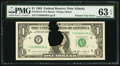 Error Notes:Printed Tears, Printed Tear Error Fr. 1913-F $1 1985 Federal Reserve Note. PMG Choice Uncirculated 63 EPQ.. ...
