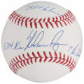 "Autographs:Baseballs, Nolan Ryan Single Signed ""Stat"" Baseball - PSA/DNA Gem MT 10.. ..."