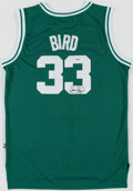 Basketball Collectibles:Uniforms, Larry Bird Signed Boston Celtics Jersey. . ...