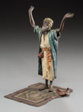 Decorative Arts, Continental, A Franz Bergman Austrian Cold-Painted Bronze Figure: Arab atEvening Prayer, late 19th-early 20th century. Marks to ...