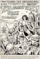 "John Buscema and Ernie Chan (as Ernie Chua) Conan the Barbarian #29 Complete 20-Page Story ""Two Against Turan!&quot..."