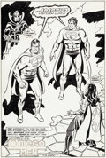 Original Comic Art:Splash Pages, Curt Swan and Dave Hunt Action Comics #534 Splash Page 17 Original Art (DC, 1982)....