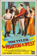 """Movie Posters:Serial, The Phantom of the West (Mascot, 1931). One Sheet (27"""" X 41"""") Chapter 5 --""""The League of the Lawless."""" Serial.. ..."""