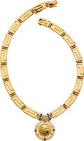 Estate Jewelry:Necklaces, Diamond, Sapphire, Gold Coin, Gold Necklace. ...