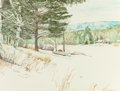Works on Paper, John Yue (American, 20th century). Garnet Lake Snow, 1977. Watercolor on paper. 17-3/4 x 23-1/2 inches (45.1 x 59.7 cm)...