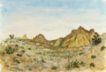 Works on Paper, Earl Staley (American, b. 1938). Big Bend #6, 1983. Watercolor on paper. 18-3/4 x 27-1/2 inches (47.6 x 69.9 cm). Signed...