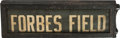 Baseball Collectibles:Others, Circa 1920 Forbes Field Oversized Trolley Car Sign.. ...