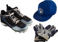 Baseball Collectibles:Hats, 2012 Ryan Braun Game Worn Cap, Cleats & Batting Gloves. . ...