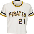 Baseball Collectibles:Uniforms, 1971-72 Roberto Clemente Game Worn Pittsburgh Pirates Jersey, MEARSA8.5.. ...