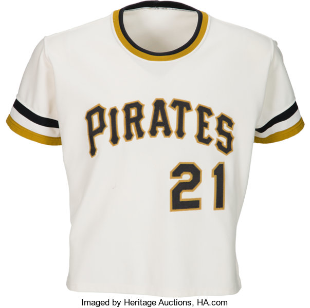 best service e39f6 ca53b 1971-72 Roberto Clemente Game Worn Pittsburgh Pirates Jersey ...