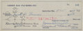 Football Collectibles:Others, 1959 Jack Vainisi & Vince Lombardi Signed Green Bay Packers Check. . ...