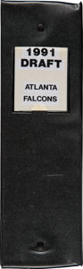 Football Collectibles:Others, 1991 Brett Favre Historically Significant Atlanta Falcons Original Scouting Report Documents....