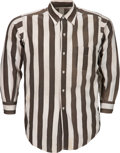 Football Collectibles:Uniforms, Circa 1940's Red Friesell Game Worn Referee's Shirt....