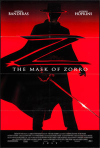 "The Mask of Zorro (Tri-Star, 1998). One Sheets (4) Identical (26.75"" X 39.75"") DS Advance. Action. ... (Total:..."