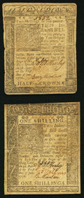 Colonial Notes:Delaware, Delaware January 1, 1776 Two Denominations.. ... (Total: 2 notes)