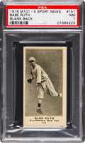 Baseball Cards:Singles (Pre-1930), 1916 M101-5 Sporting News (Blank Back) Babe Ruth Rookie #151 PSA NM 7....