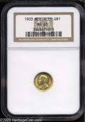 Commemorative Gold: , 1903 G$1 Louisiana Purchase/McKinley MS63 NGC. A well struckrepresentative that has bright honey-gold color and blazing c...