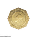 Commemorative Gold: , 1915-S $50 Panama-Pacific 50 Dollar Octagonal MS60 NGC. A moreaffordable representative of this gold Commemorative rarity,...