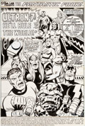 Original Comic Art:Splash Pages, Rich Buckler and Joe Sinnott Fantastic Four #150 Splash Page1 The Avengers Original Art (Marvel, 1974)....