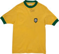Autographs:Baseballs, 1970 Pele Game Worn & Signed Brazilian National Team Jerseywith Teammate Provenance.. ...