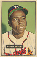 "Baseball Collectibles:Others, 2015 Hank Aaron 1951 Bowman ""Card That Never Was"" Original Artwork by Arthur Miller. ..."