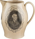 Political:3D & Other Display (pre-1896), James Madison: Liverpool Pitcher by Herculaneum Pottery Company....