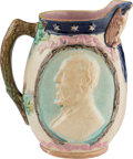 Political:3D & Other Display (pre-1896), James A. Garfield: Majolica Pitcher....