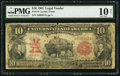 Large Size:Legal Tender Notes, Fr. 115 $10 1901 Legal Tender PMG Very Good 10 Net.. ...