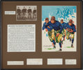 Football Collectibles:Others, Circa 1940's Four Horseman of Notre Dame Multi Signed Cut Signature Display. . ...