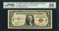 Small Size:World War II Emergency Notes, Fr. 2300 $1 1935A Hawaii Silver Certificate. Z-B Block. PMG Choice About Unc 58.. ...