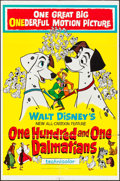 "Movie Posters:Animation, 101 Dalmatians & Other Lot (Buena Vista, 1961). One Sheet (27"" X 41"") & Poster (22"" X 28""). Animation.. ... (Total: 2 Items)"