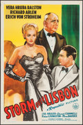 "Movie Posters:Drama, Storm Over Lisbon (Republic, 1944). One Sheet (27"" X 41""). Drama.. ..."