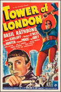 "Movie Posters:Horror, Tower of London (Universal, 1939). One Sheet (27"" X 41""). Horror.. ..."