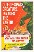 "Movie Posters:Science Fiction, 20 Million Miles to Earth (Columbia, 1957). Autographed One Sheet(27"" X 41"") Style A. Science Fiction.. ..."