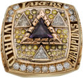Basketball Collectibles:Others, 2002 Los Angeles Lakers NBA Championship Ring Presented to SamakiWalker.. ...
