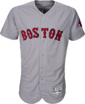 Baseball Collectibles:Uniforms, 2017 Andrew Benintendi Game Worn Unwashed Boston Red Sox JerseyPhoto Matched to Two Home Runs & Go-Ahead Hit vs. Yankees. ...