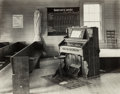 Photographs, Walker Evans (American, 1903-1975). Church Organ with Pews, 1936. Gelatin silver, printed later. 7-1/2 x 9-1/2 inches (1...